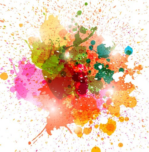 Free Colorful Paint Splash Vector Background 02 - TitanUI