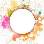 Colorful Paint Splash Vector Background 03