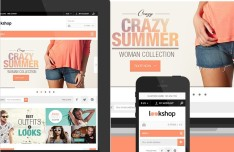 Responsive E-commerce Web Template PSD