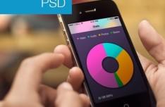Stats View App GUI PSD