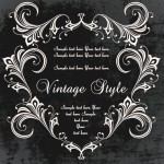 Dark Royal Vintage Floral Frame Vector 01