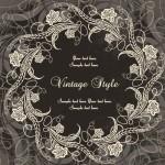 Dark Royal Vintage Floral Frame Vector 02