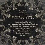 Dark Royal Vintage Floral Frame Vector 03