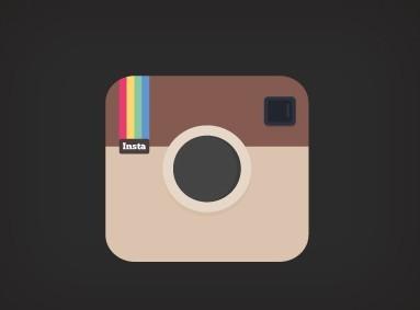 Free Flat Brown Instagram Icon PSD - TitanUI  Free Flat Brown...