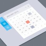 Flat Clean Calendar Widget PSD