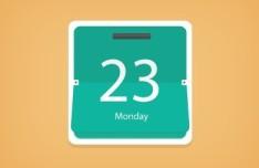 Flat Flip Calendar Icon PSD