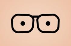 Black Funny Glasses PSD