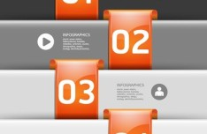 Creative Infographic Number Option Template Vector 01