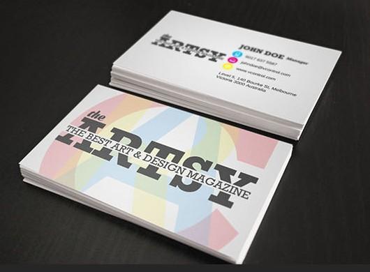 Free Artsy Business Card PSD - TitanUI