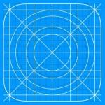 Vector iOS 7 Icon Grid Template