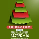 Creative Christmas Party Club Poster / Flyer Template Vector 03