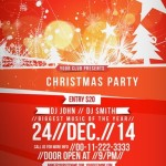 Creative Christmas Party Club Poster / Flyer Template Vector 04