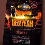 Hellyeah Halloween Flyer Template PSD