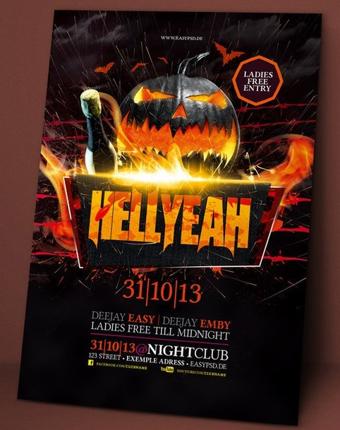 Halloween Flyer Template Psd Gallery Template Design Free Download - Free halloween flyer templates