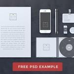Blank Grey Stationery & Branding Mockup PSD