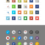DETA Flat Icons Set (Circle and Square)
