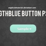 Light Blue Flat Button Template PSD
