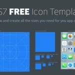 iOS 7 Icon Blueprint Template PSD