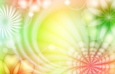 Fantasy & Colorful Flower Background Vector 03