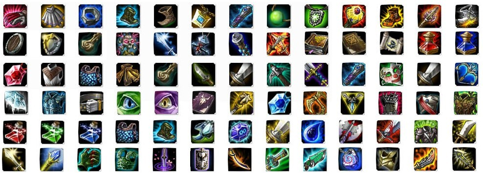 Free League of Legends Item Icons Pack PSD - TitanUI