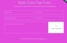 Multi-Color Flat Form UI PSD