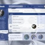 Facebook Music Player GUI PSD