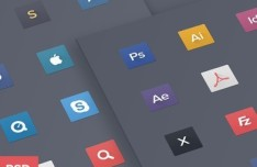 Flat Mac Dock Icons PSD
