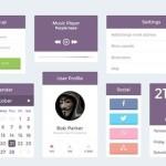 Minimal Purple UI Kit PSD