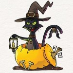 Vector Halloween Cat Illustration