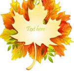 Autumn Yellow Maple Leaf Design Vector 07