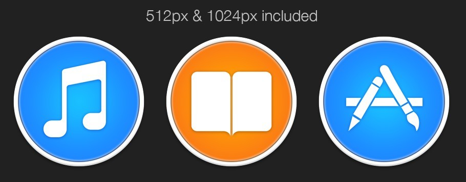 free itunes ibooks and app store icons vectorpsd titanui