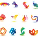 Colorful Abstract Symbol (Logo) Designs Vector