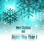 Merry Christmas and Happy New Year Background Vector 01