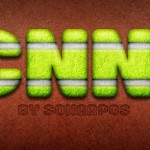 Green Tennis Text Style PSD