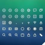 45 UI Line Icons PSD