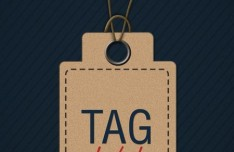Brown Clothing Hang Tag PSD