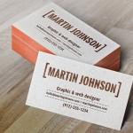 Letterpress Business Card MockUp PSD