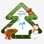 Fresh Merry Christmas Frame Vector 02