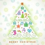Cute Cartoon Christmas Tree Vector