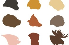 Flat Animal Silhouette Vector Shapes