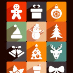 Long Shadow Christmas Icons