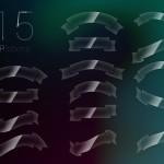 15 Glossy Web Ribbons PSD