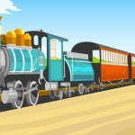Retro Train Vector Illustration