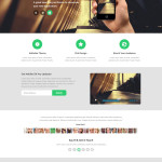 Notify Modern Landing Page Template PSD