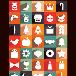 35 Long Shadow Christmas Icons