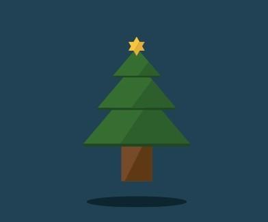 free flat christmas tree psd titanui - Flat Christmas Tree