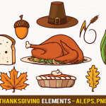 Thanksgiving Vector Design Elements