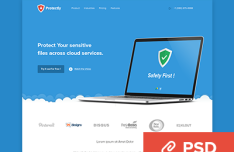 Protectly Website PSD Template