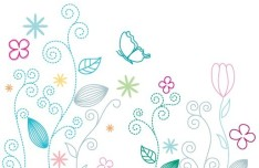 Fresh Clean Line Art Floral Design Vector 01