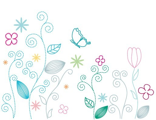 Floral Art Line Design : Free fresh clean line art floral design vector titanui